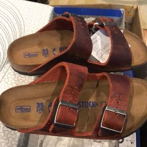 Birkenstock Arizona Earth Red 4 narrow new
